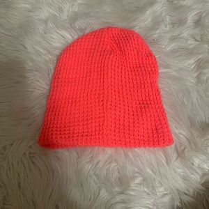 Cotton On Neon Hot Orange Knit Winter Hat